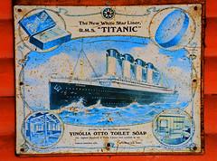 Titanic Advertising. (curly42) Tags: vinoliaottotoiletsoap advertising advert sign enamelsign rmstitanic whitestarlines titanic