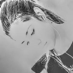Thoughtful Athena_IMG_2784i3n (AchillWandering) Tags: art people woman lady portrait thoughtful greece athens greek beauty monochrome blackandwhite blackwhite bw face pretty expression mono female mood youth light black white teen perspective