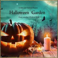Hallowwen Garden - lore'a (loreleilcoeur) Tags: halloween lorea chopzuey mpp ironcraft dock17 facepaint kaju monderley secondlife event dress