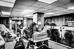 IMG_11337 (Kathi Huidobro) Tags: publicspaces worklife chores citylife interiors washday busy launderette laundry laundromat blackwhite bw monochrome london