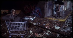 Eat the Rich (davidamstrong_4.0) Tags: secondlife grunge homeless