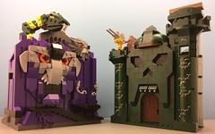 Playsets Packed Away (Hobbestimus) Tags: lego mastersoftheuniverse motu snakemountain grayskull heman skeletor 80s toys moc