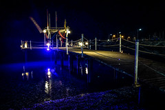 Friday night pier (Melissa Maples) Tags: kemer turkey türkiye asia 土耳其 apple iphone iphonex cameraphone autumn black dark night mediterranean sea water 155beach beach lights blue pier
