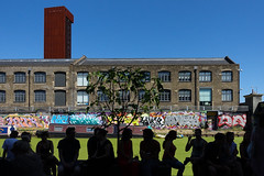 Hackney Wick, London (jaumescar) Tags: architecture streetphotography canpubphoto canal graffiti silhouette people urban crowd windows geometry human tree trendy london hackney