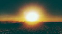 blaze(but no glory)... (BillsExplorations) Tags: sunset harvest soybeans dust blaze fire sun field combine illinois fall fallharvest yellow snapseed