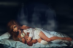 Dolltober Day 28 : Nightmare. (Chantepierre) Tags: bjd balljointeddoll balljointed doll fairyland minifee minifée chloé chloe fc fullcusto full custo custom chantepierre ladicius tan tanskin skin dolltober2018 dolltober 2018
