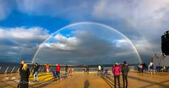 Arctic Rainbow #1 (Amazing Sky Photography) Tags: doublerainbow hurtigruten norway people rainbow trollfjord apple arctic deck iphone sea ship