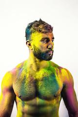 (S.t.m_photos) Tags: men colour colours colourfull man model modeleman shoot shooting bordeaux france nikon poudre green blue pink yellow portrait eyes