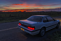 (djerniganphoto) Tags: sunset sky california cruising landscape honda prelude cars classic car clouds humboldt colors