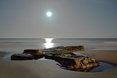 Moonlight Roker Beach (MikeOB64) Tags: beach moonlight sand coast roker