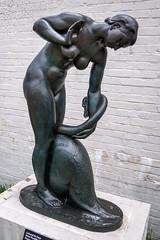 Leda and the Swan (dayman1776) Tags: bronze sculpture sculptor sculptures statue leda swan zeus greek roman greece myth mythology mythological god goddess bird brookgreen gardens garden museum art south carolina sony a6000