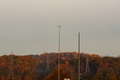 NO (stephen.rollick) Tags: digital digitalphotography digitalphoto canon 20d landscape landscapephotography autumn fall seasons midwest trees treeline cloudy overcast powerlines electricity transmission highwayscenery poles forest woods pennsylvania