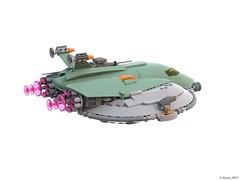 20 RETRO SPACE HERO'S SPACESHIP - Right Back View (Nuno_0937) Tags: lego ideas classic space spaceship ship moc retro hero minifigure