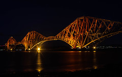Forth Bridge 2018 (Brian Travelling) Tags: pentaxkr scotland railway bridge forthbridge reflection light night iconic icon