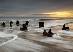 Seas the day (peterwilson71) Tags: beautiful clouds daybreak exposure reflections flow horizon sky longexposure landscape light motion movement nature northeast outdoors sea sunrise seascape groynes travel tide teeside hartlepool