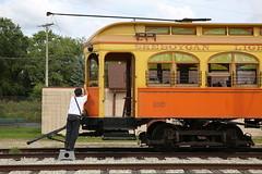At the terminus (Maurits van den Toorn) Tags: tramway interurban tranvia strassenbahn eléctrico easttroy trolley museum usa work terminus villamos railroad conductor tram