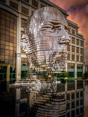 Metalmorphosis (Edwin Wagner) Tags: metal reflections charlottenc art sculpture mirror head