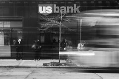 Blink of an Eye - 51/100 X (mfhiatt) Tags: img94950118jpg blur urbanblur blackandwhite desmoines urban street streetphotography oof outoffocus slow shutter bus speed 100xthe2018edition 100x2018 image51100