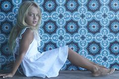 SS10120C LINEN DRESS White (2) (ZacaluZoo) Tags: miilovemu kids fashion boho children