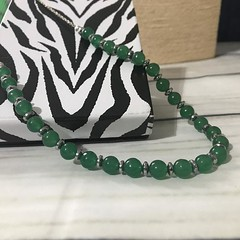 Aventurine and haematite necklace: green necklace (toriastrinkets) Tags: etsyaaa craftbuzz etsymntt jewellery