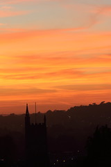 Evening sunset @ Westbury-on-Trym (charliejb) Tags: westburyontrym evening sunset sun cloud bristol orange dusk 2018