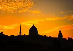 Sunset in Paris (Franco-Iannello) Tags: nature sunset landscape places