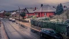 First Snow - 6113 (ΨᗩSᗰIᘉᗴ HᗴᘉS +27 000 000 thx) Tags: snow belgrade house road hensyasmine namur belgium europa aaa namuroise look photo friends be wow yasminehens interest intersting eu fr greatphotographers lanamuroise