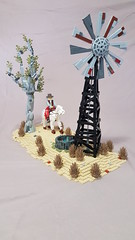 Outback1 (Nick's brick land) Tags: australia lego aussie windmill miniland gumtree drought