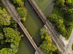 Railroad Bridges (chuckh6) Tags: river bridge drone railroad