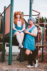 Asuka Langley Sohryu (惣流・アスカ・ラングレー) & Rei Ayanami (綾波 レイ) (btsephoto) Tags: cosplay costume play コスプレ anime fuji fujifilm xt2 portrait neon genesis evangelion 新世紀エヴァンゲリオン asuka langley sohryu 惣流・アスカ・ラングレー 惣流 アスカ ラングレー rei ayanami 綾波 レイ fujinon xf 56mm f12 r lens