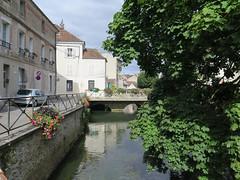 Crécy-la-Chapelle, nice walk along the river (Sokleine) Tags: water eau river rivière grandmorin crécylachapelle 77 seineetmarne iledefrance france heritage quai pont bridge trees arbres