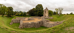 Ludgershall Castle (Keith in Exeter) Tags: ludgershall castle andover wiltshire ruins remains ancient building architecture english heritage earthwork stonework fort grass tree ditch sky fortification panorama photomerge landscape