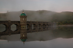 Morning Mist, Elan Valley, Powys (Frightened Tree) Tags: photography north victorian industrial beautiful scenic atmosphere elan valley rhayader powis powys tower reservoir craig goch dome architecture reflection mist autumn hydref morning travel vacation wales welsh landscape tamron 2470mm formatt hitech radnorshire aperture