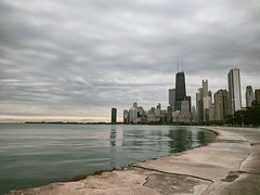 Path (ancientlives) Tags: chicago illinois il usa travel trips lake lakemichigan lakefronttrail lakeshore lakeshoredrive towers skyline skyscrapers city cityscape architecture buildings path walking water navypier ferriswheel sunday september 2018 autumn chicagoparks park