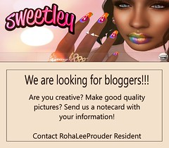 Sweetley is looking for you! (Sweetley SL) Tags: blogger bloggers vloggers search sweetley store meash applier catwa maitreya mesh secondlife
