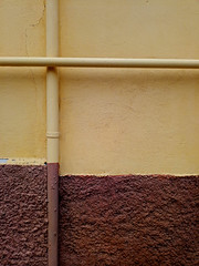 composition - 4 (Rino Alessandrini) Tags: backgrounds pattern wallbuildingfeature constructionindustry architecture old textured concrete outdoors closeup dirty cement material abstract brown nopeople buildingexterior pipe