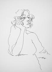 P1018800 (Gasheh) Tags: art painting drawing sketch portrait girl line pen gasheh 2018