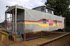 Family Lines System caboose - Ethridge, TN (SeeMidTN.com (aka Brent)) Tags: caboose train ethridge tn tennessee lawrencecounty familylinessystem seabordsystemrailroad bmok bmok2