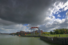 Moody clouds over Preston Docks (Tony Worrall) Tags: preston lancs lancashire city welovethenorth nw northwest update place location uk england north visit area attraction open stream tour country item greatbritain britain english british gb capture buy stock sell sale outside outdoors caught photo shoot shot picture captured ashtononribble ashton prestondocks prestonmarina docks marina wet water waterside weather clouds scenic scene scenery beauty nice