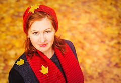 Wife (svklimkin) Tags: girl portrait people park yellow woman autumn svklimkin smile canon