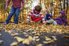 Trampoline plus leaves equals loads of fun (Elizabeth Sallee Bauer) Tags: active autumn beautyinnature boy child childhood fall fun jumping kid leaves outdoors outside playing trampoline trees youth