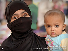 2015-03b Doubling Down on Doubles 2018 (07) (Matt Hahnewald) Tags: matthahnewaldphotography facingtheworld head face eyes catchlights childreneyes bigeyes eyebrows beautifuleyes almondshapedeyes expression story niqab burqa black parentalconsent dedication love religion upbringing childhood modesty virtue muslima islam islamicclothing bazaar motherhood parenthood motherandchild delhi india indian asia asian female child toddler boy young woman nikond610 nikkorafs85mmf18g 85mm resized 1200x900pixels horizontal doubleportrait halflength fullfaceview indoor posing cute awesome authentic beautiful clarity colour facecovering islamic conceptual two 4x3ratio cultural traditional closeup consensual lookingatcamera