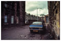 Urban Princess (ianrwmccracken) Tags: 28mm 1985 2200hl lens morris street paisley ae1program 35mm film scotland march 1980s kodachrome64 car vehicle austin positive lane fd princess slide canon ladylane