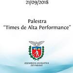 Palestra - Times de Alta Performance. 21/09/2018