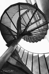 Spiral (mimo b. rokket) Tags: modern abstract abstractarchitecture abstraktearchitektur wendeltreppe spiralstairs bw blackandwhite sw schwarzweis monochrome monochrom bernau germany deutschland canonefs1018mmf4556isstm wideangle weitwinkel