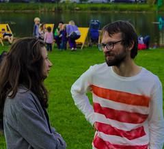 Anya&Danya (Starving Eye) Tags: young guys couple girl festival summertime september upsalacircus friends color shy happy joy glad