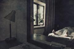 Room 11 (Hovimestarin huone), Art Hotel Honkahovi, Mänttä (pni) Tags: whereiam hotelhobbies me self selfportrait man foot bed bedsheet reflection sole mirror table keys window flowers curtain room11 hovimestarinhuone arthotel honkahovi mänttä finland suomi pekkanikrus skrubu pni interior