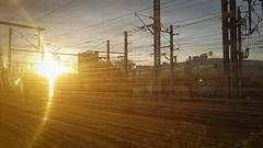 High Speed Sunset (Dan Guimberteau) Tags: sunset light amber speed train france ile de dxo photolab lightroom paris motion