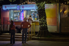 Korean Tacos  - Austin, TX on a Friday Night (-Dons) Tags: austin texas unitedstates trailer foodtrailer foodtruck tacotruck tree cowboyhat open 6thstreet east6thstreet sixthstreet chilantro