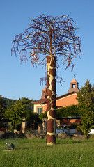 Chair Tree (Scene the light...) Tags: chair tree empty chairs blue sky hamlet village baccanella pisa tuscany italy ornament art sculpture sun country countryside